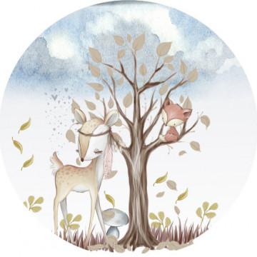 Poveste cu animalute - sticker decorativ