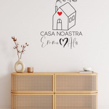 Sticker perete - Casa noastră