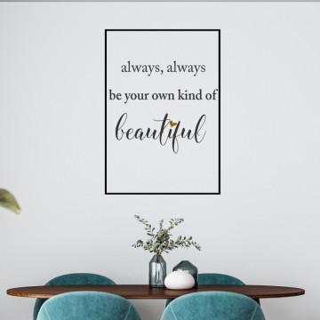 Your kind of beautiful-sticker decorativ