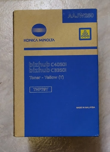 Poze Toner Bizhub C3350i/C4050i Yellow TNP79Y