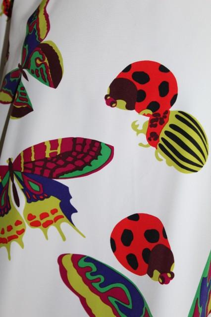 Bluză retro print insecte anii 80