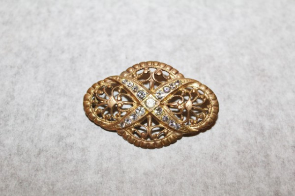 Brosa antique aurie cristale perioada victoriana cca. 1890