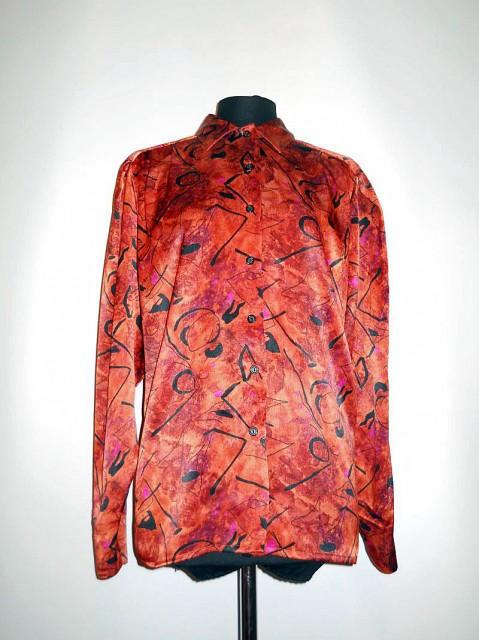 Camasa retro maro print grafic anii '80