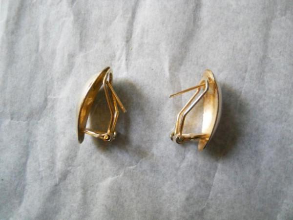 Cercei aurii vintage anii '70
