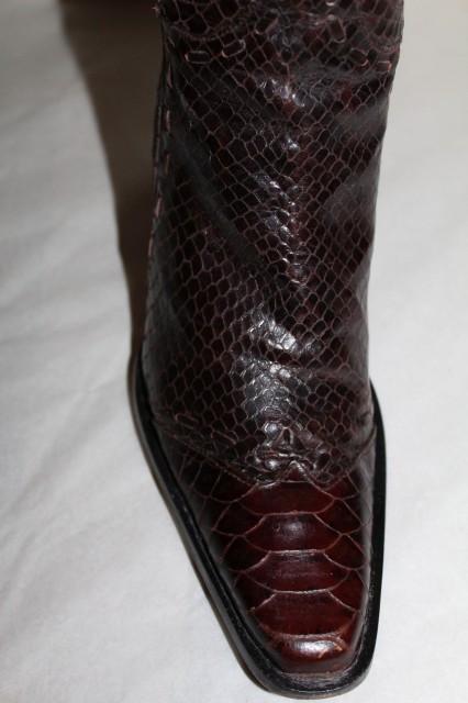 Ciocate din piele veritabilă de șarpe Heyraud