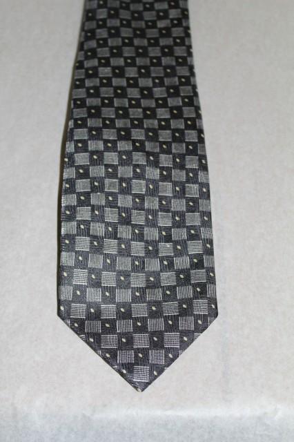 Cravată pătrățele gri Mayvet anii 90