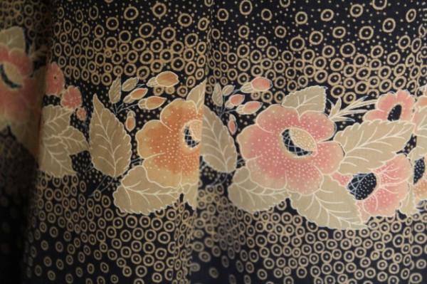 Fusta flori roz si gri anii '60