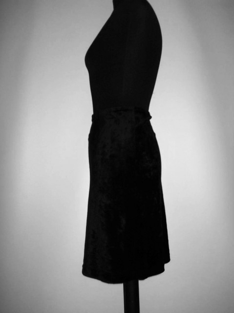 Fusta mini catifea neagra anii '80 -'90