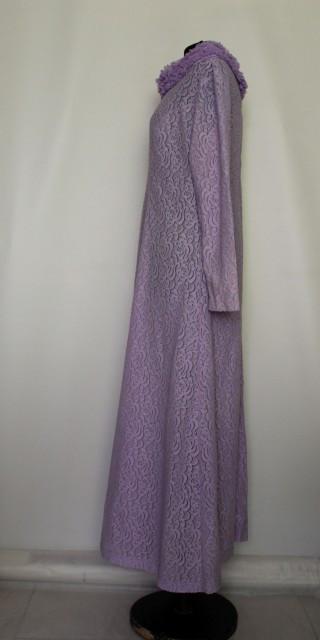 Lounge robe din dantela violet anii '70