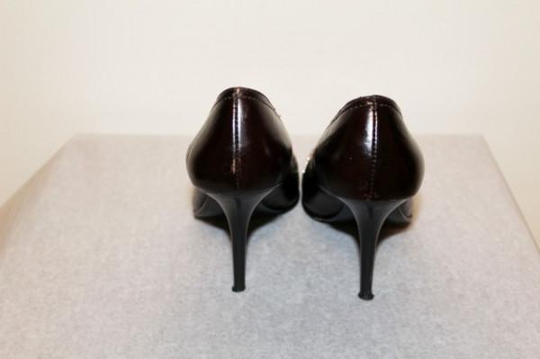 Pantofi de ocazie maro inchis bot argintiu repro anii '50