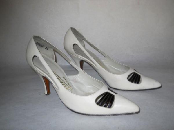 Pantofi vintage bicolori anii '50 - '60