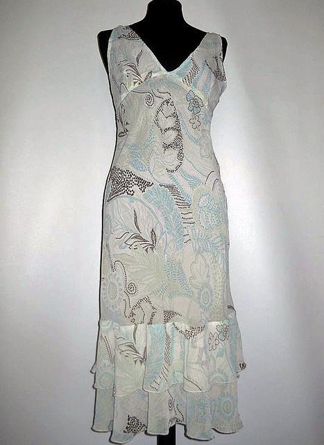 Rochie din georgette print punctiform anii '90