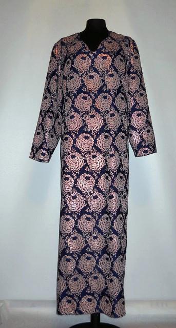 Rochie vintage din brocart albastru anii '60