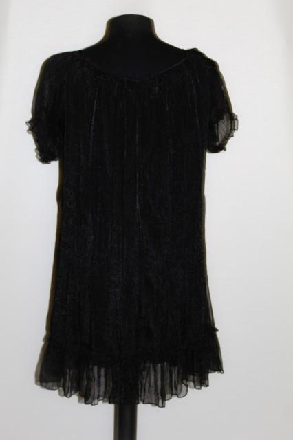 Bluza din organdi negru repro anii '70