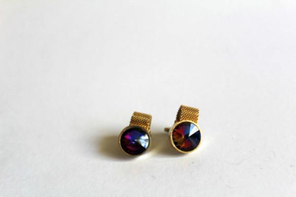 Butoni cristale violet anii 70