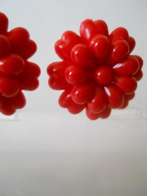 Cercei floare rosie anii '40