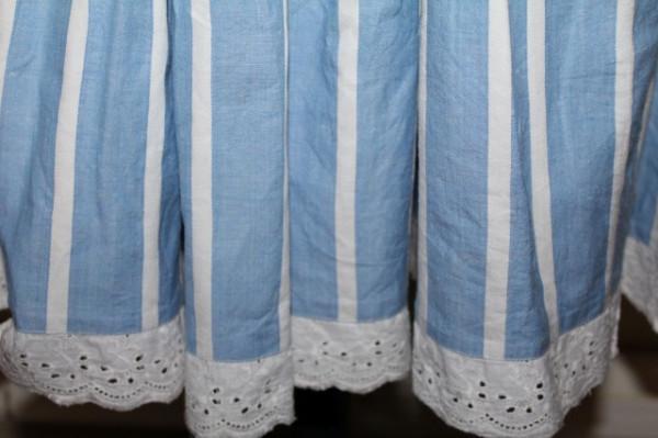 Fustă bleu dungi anii 70