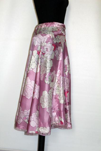 Fustă lila print floral anii 60