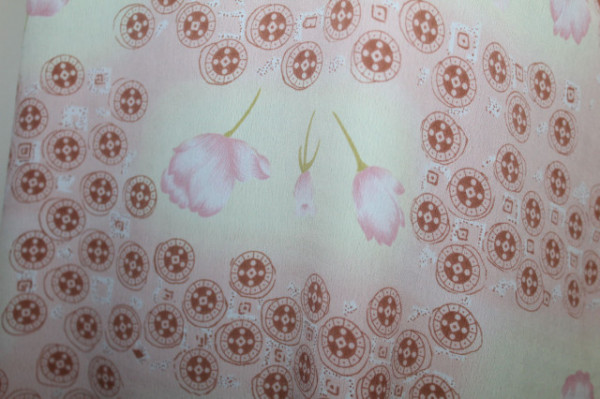 Kurta print cerculete si flori anii '90