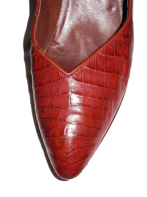 """Pantofi din piele de aligator """"Calvin Klein"""" anii '80"""
