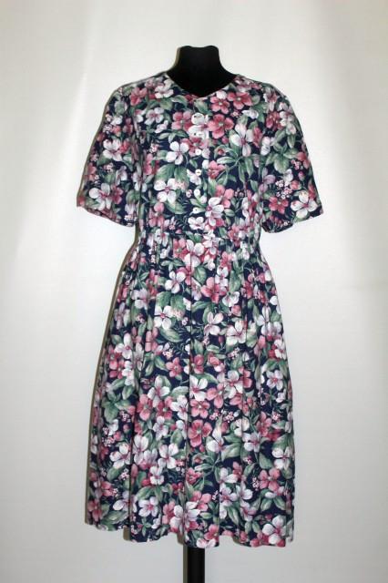 Rochie din in print floral anii 80
