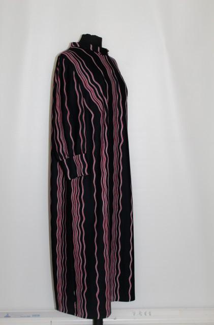 Rochie dungi rosii pe fond negru anii '70