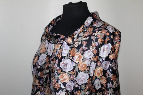 Rochie guler băcuță print floral anii 50-60