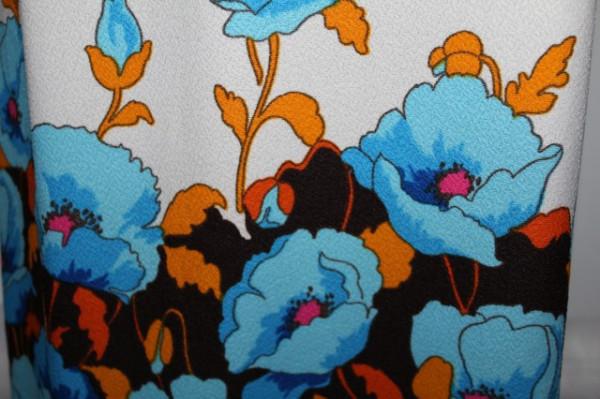 Rochie maxi flori turcoaz anii '60