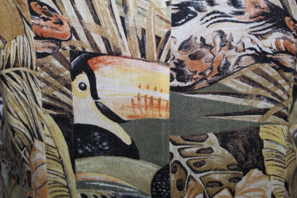 Rochie print papagali anii 80