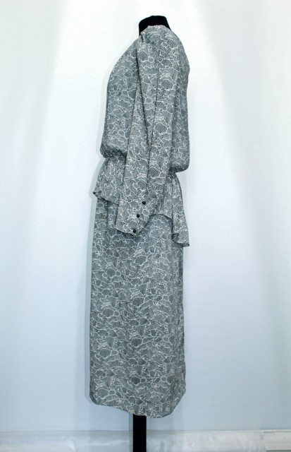 Rochie retro alb cu negru anii '80