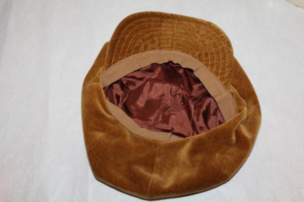 Basc vintage din catifea maro scortisoara anii '70