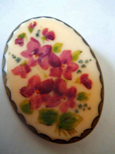 Brosa flori pictate anii '30