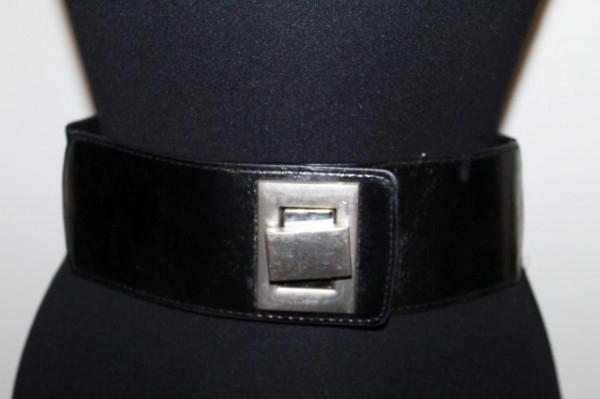 Centura elastica ornament argintiu repro anii '80