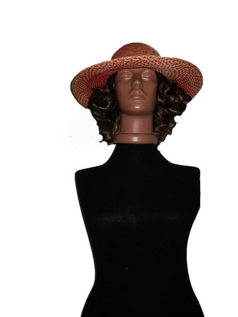 Palarie vintage de pai modele geometrice anii '20 - '30