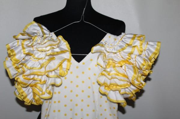 """Rochie de flamenco buline galbene """"Creacion Roal"""" anii '70"""