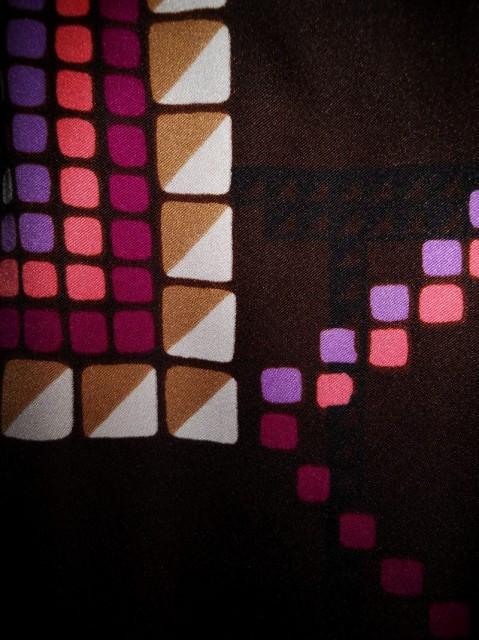 Rochie de ocazie print geometric anii '70