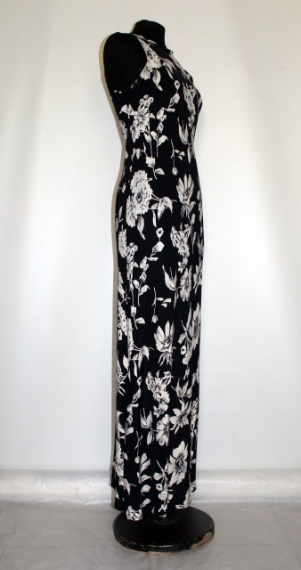 "Rochie retro maxi ""All That Jazz"" anii '80"