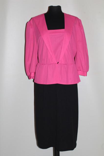 Rochie roz cu negru anii 80