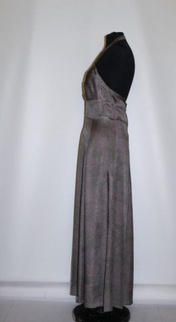 "Rochie vintage de seara model tip ""halter dress"" anii '30 - '40"