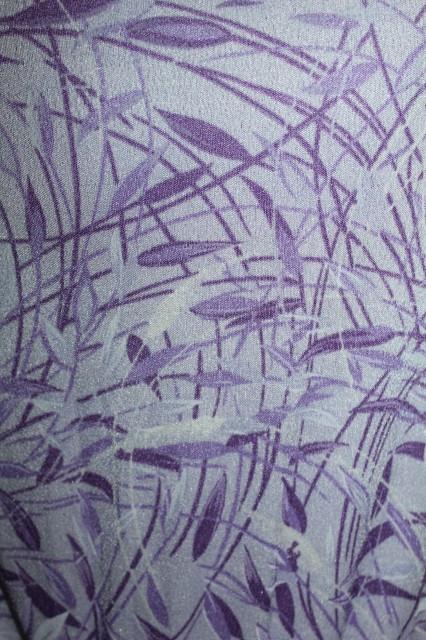 Rochie vintage print vegetal violet anii '60