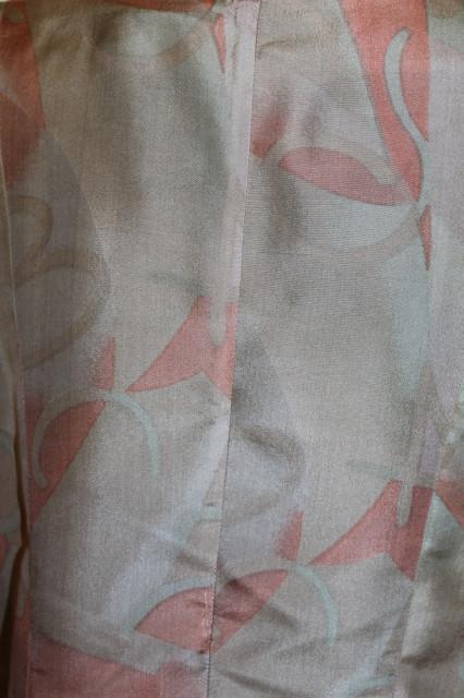 Taior estiv din mătase naturală verde și frez anii 80