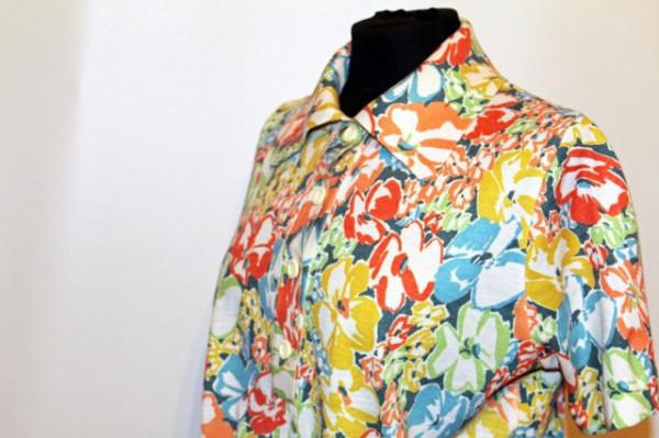 Bluza vintage tricot print floral anii '70