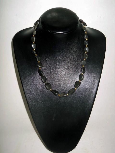 Colier vintage agate negre anii '30