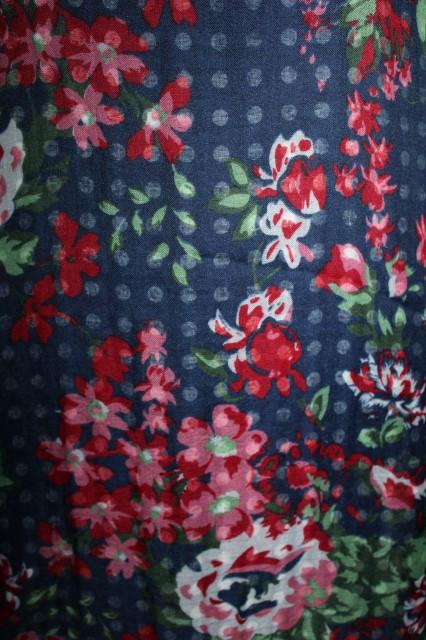 """Esarfa """"Esprit"""" flori si buline anii '90"""