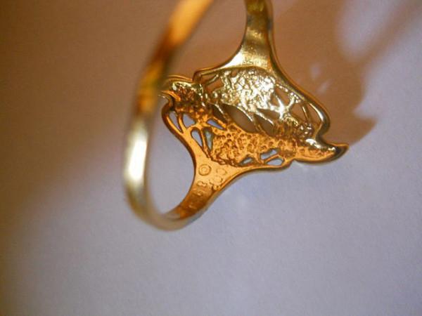 Inel placat cu aur anii '70