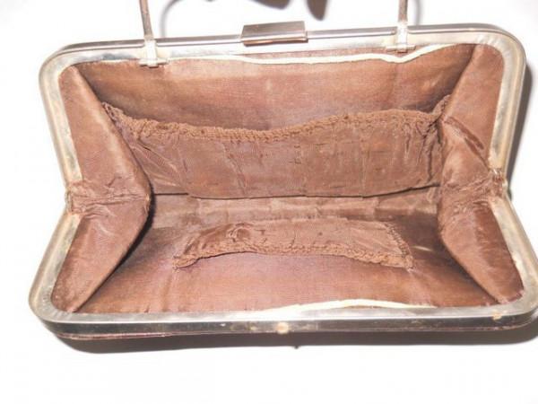 Poseta din piele cu model in relief perioada edwardiana cca. 1900-1910