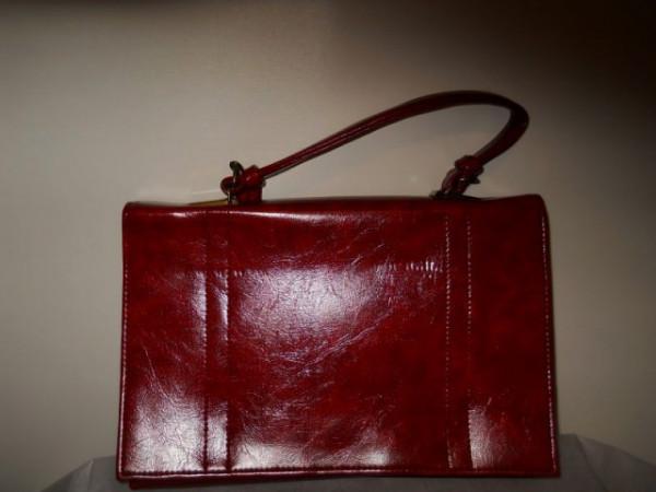 Poseta vintage rosu burgund anii '70
