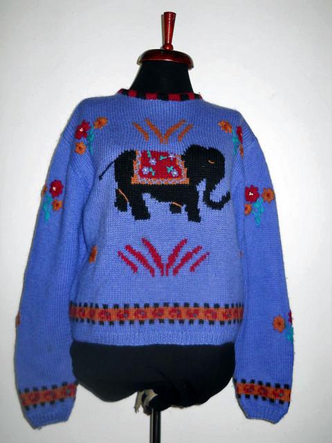 Pulover elefant anii '80