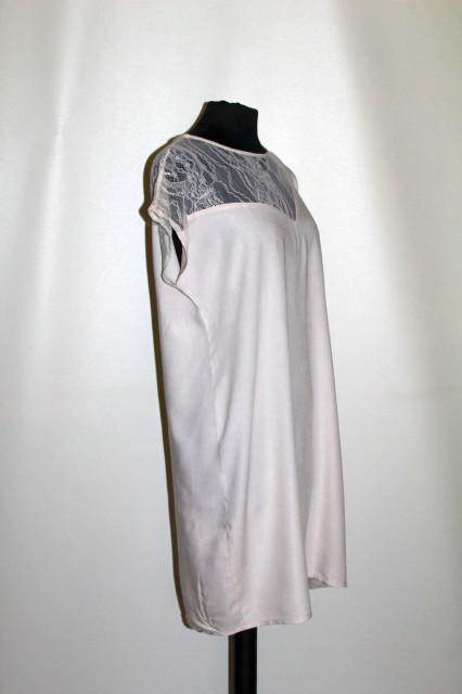 Rochie grej platcă asimetrică dantelă anii 90