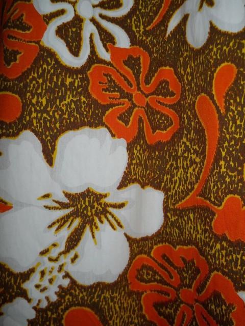 Rochie maxi vintage print punctiform si flori anii '70